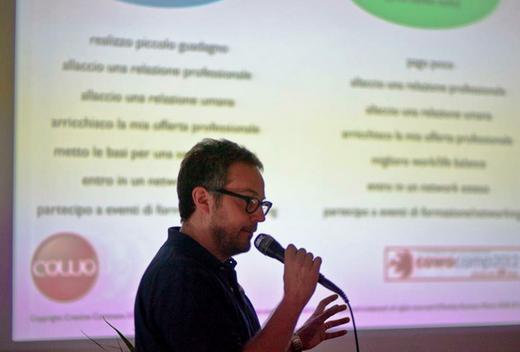 Coworking Cowo Founder Massimo Carraro speaker al CowoCamp
