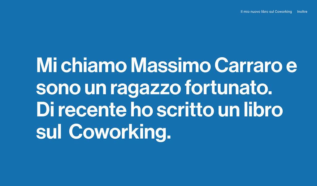 sito personale massimo carraro (coworking cowo)
